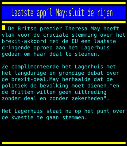 test Twitter Media - Laatste appel May:sluit de rijen https://t.co/MQivgnAXba