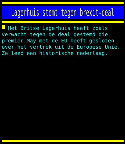 test Twitter Media - Lagerhuis stemt tegen brexit-deal https://t.co/IM68sjHzgf