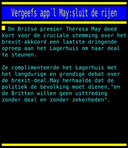 test Twitter Media - Vergeefs appel May:sluit de rijen https://t.co/sXCVe3DzAh