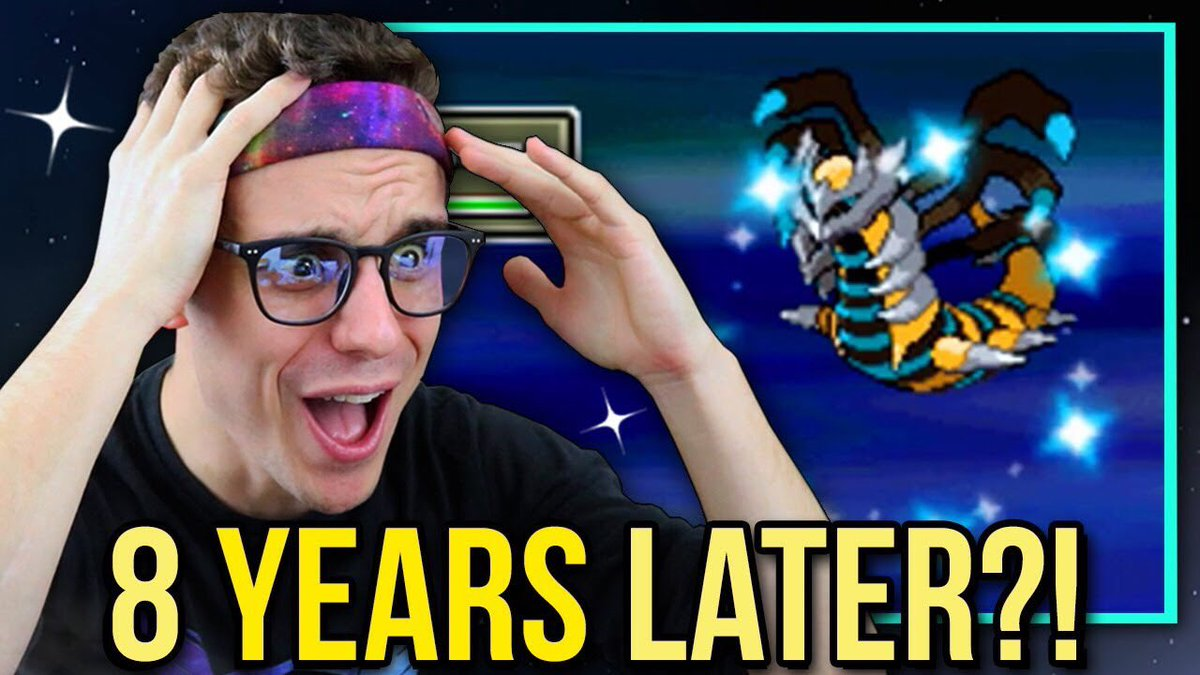 NEW VID!! LIVE! 8 Years After my game Froze, Shiny Giratina is back baby! ✨ https://t.co/l4IvL4MqwV https://t.co/hvCGOCw3ap