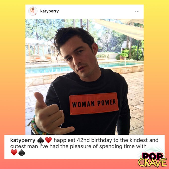 """. wishes \""""kindest and cutest man\"""" Orlando Bloom a happy 42nd birthday on Instagram."""