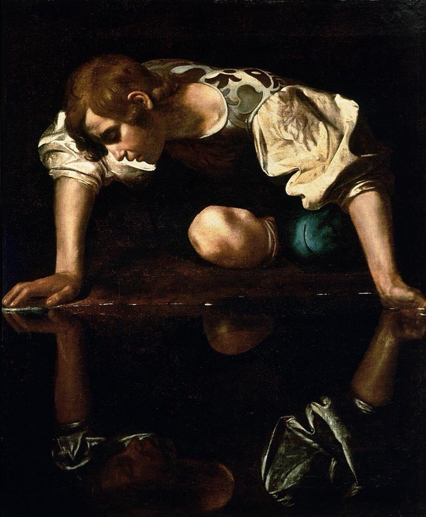 "Caravaggio  ""Narciso"" 1597/99 https://t.co/bzXLvY24nU"