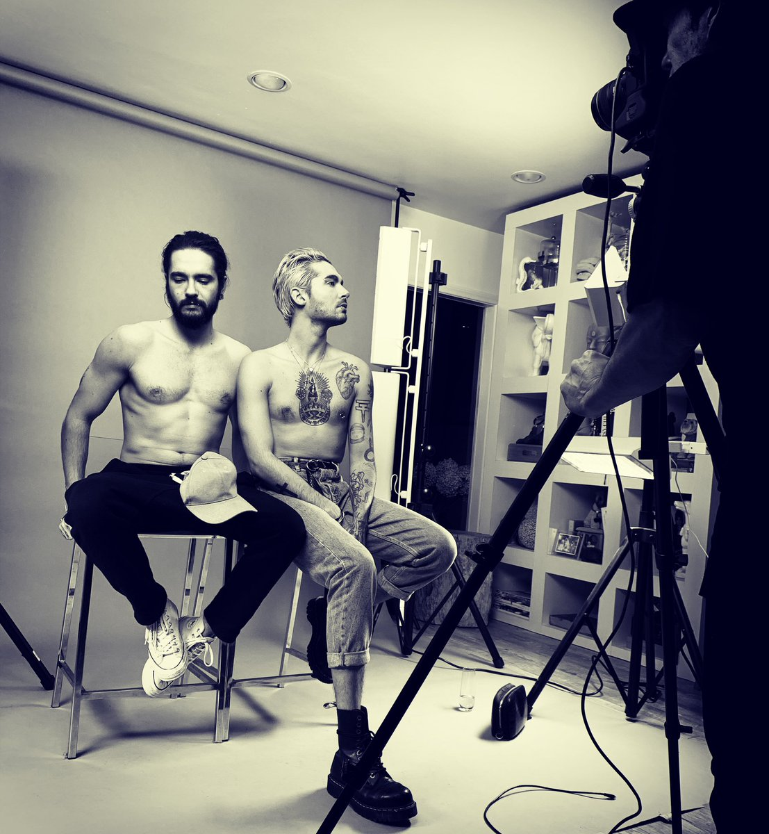 Late night photoshoot with @shirogutzie  @tokiohotel @billkaulitz @tomkaulitz ????????????????#melancolicparadise #February1 https://t.co/N9c8uYjytN