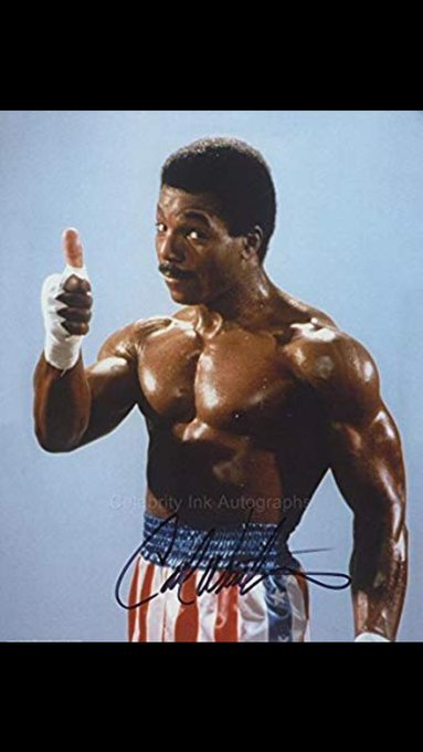 Happy Birthday Carl Weathers. Role model from childhood