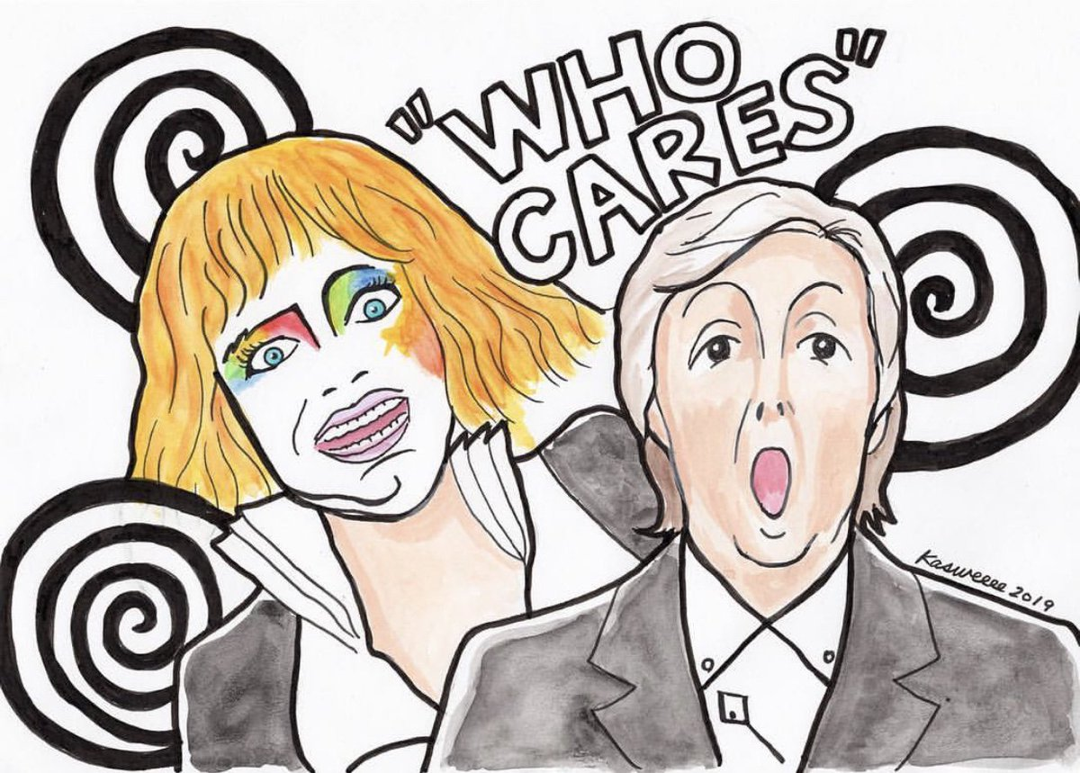 test Twitter Media - How great is this illustration of #EmmaStone & @PaulMcCartney?! Tag #WhoCaresIDo so we can share more of your talented fan art!  🎨: @kasweeee https://t.co/qVHQOXX8i2
