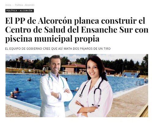 El PP de #Alcorcón planea construir el Centro de Salud del Ensanche Sur con piscina municipal propia https://t.co/vnRxUcFjYH