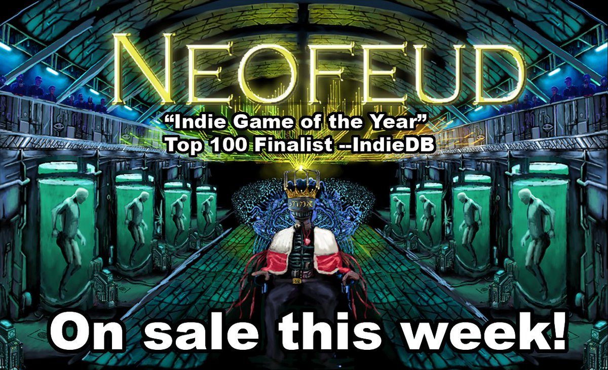 test Twitter Media - Neofeud is on sale! The only cyberpunk game where a social worker for homeless robots takes on a cabal of billionaire CEO-Kings :)  https://t.co/RWwMWKTbDa  #cyberpunk #indiedev #indiegame #steam #gamersunite #scifi #indiegames #visualnovel #cyberpunkgame #Steamsale #SteamDeals https://t.co/cILDdO3ipY