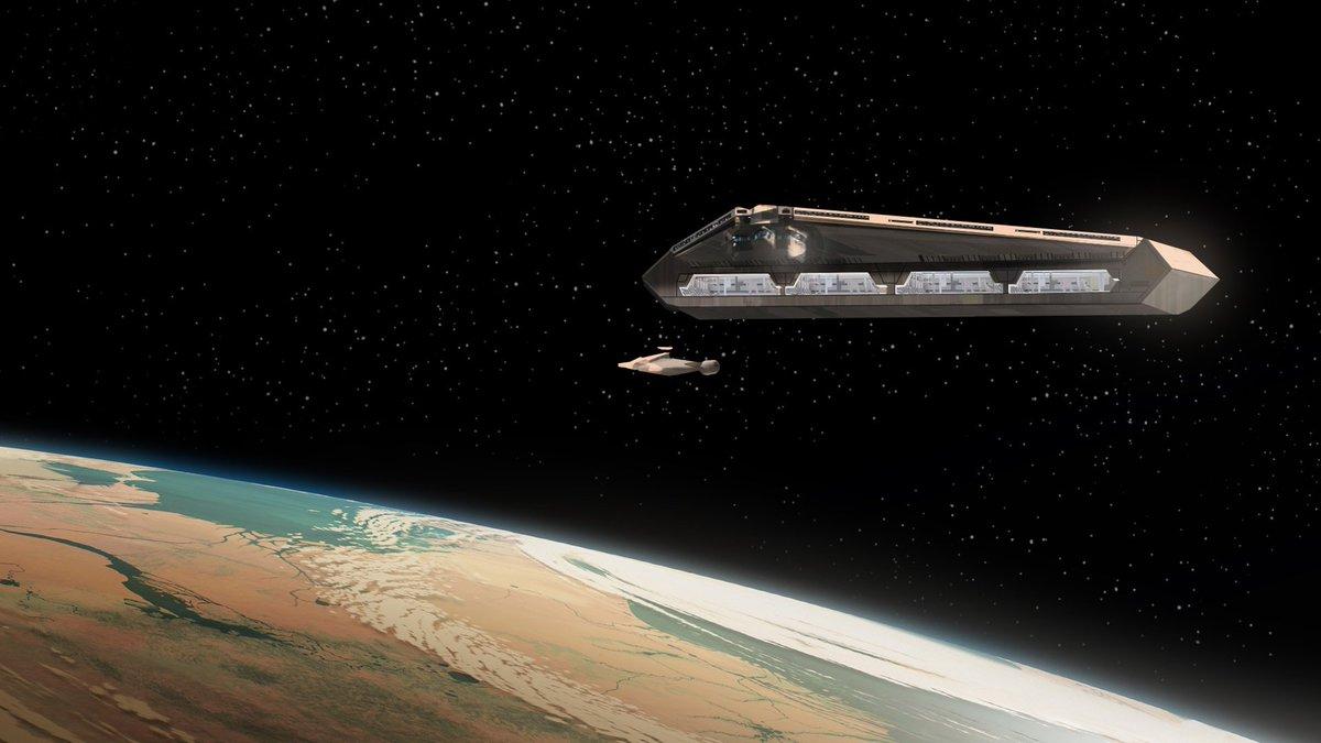 test Twitter Media - Imperial Quasar Fire-class cruiser-carrier - #starwarsrebels  Digital lighting concept painting. https://t.co/rGL6irpb4B