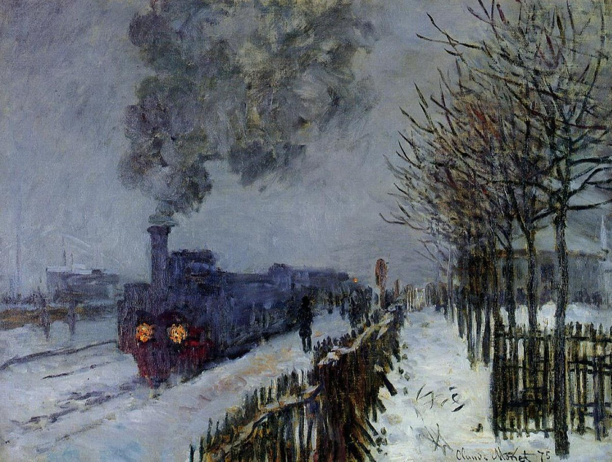 RT @artistmonet: Train in the Snow or The Locomotive, 1875 #impressionism #claudemonet https://t.co/RZWrfCrge3