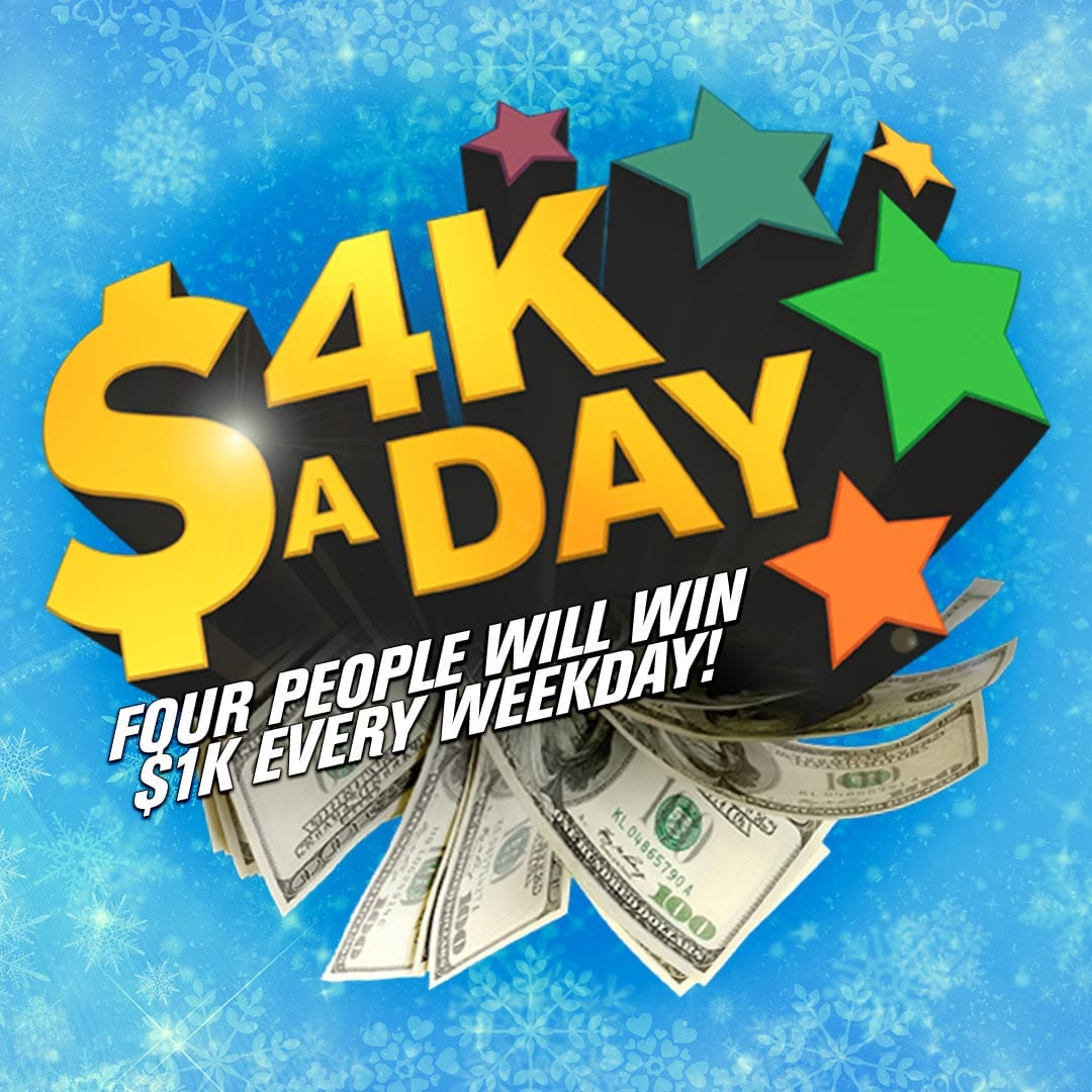 Ten minutes from out national keyword! Your chance to win $1,000 with #4KaDay https://t.co/YhD8fbFGa6