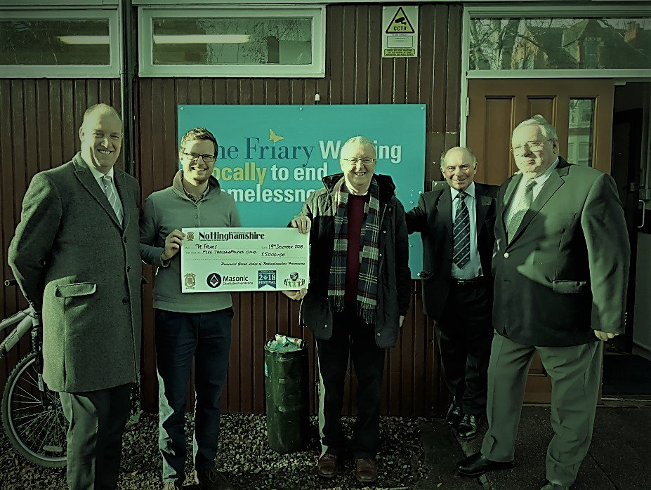 test Twitter Media - Huge #thanks to @NottsMasons for their fabulous donation of £5000! The money will help pay for our advice facility providing in depth advice on issues such as #housing & #welfare benefits & help us install new CCTV.   #Thankyou #Freemasonry #Nottinghamshire #Nottingham #community https://t.co/MW35VUfjg4