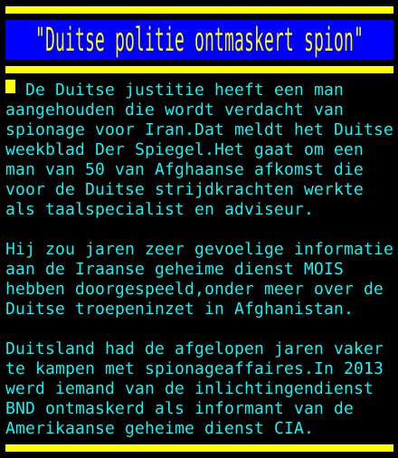 "test Twitter Media - ""Duitse politie ontmaskert spion"" https://t.co/IPc3J96tiE"