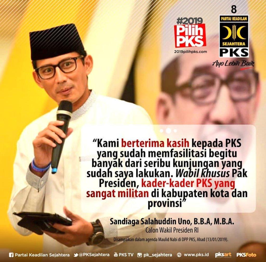 RT @PKSPekayon: @sandiuno : Terimakasih Kader PKS..  #HariIniLebihBaik https://t.co/FINxY4ZXf3