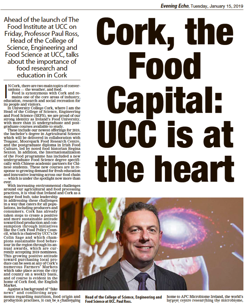 test Twitter Media - Delighted to be acknowledged for our 'pioneering studies on re-using wastewater from dairy processing plants to allow Ireland to reach sustainability targets...' by Prof. Paul Ross @SEFSUCC in his @CorkEveningEcho article this evening @eriucc @EPAResearchNews @UCCResearch https://t.co/hE7gzNgEK2