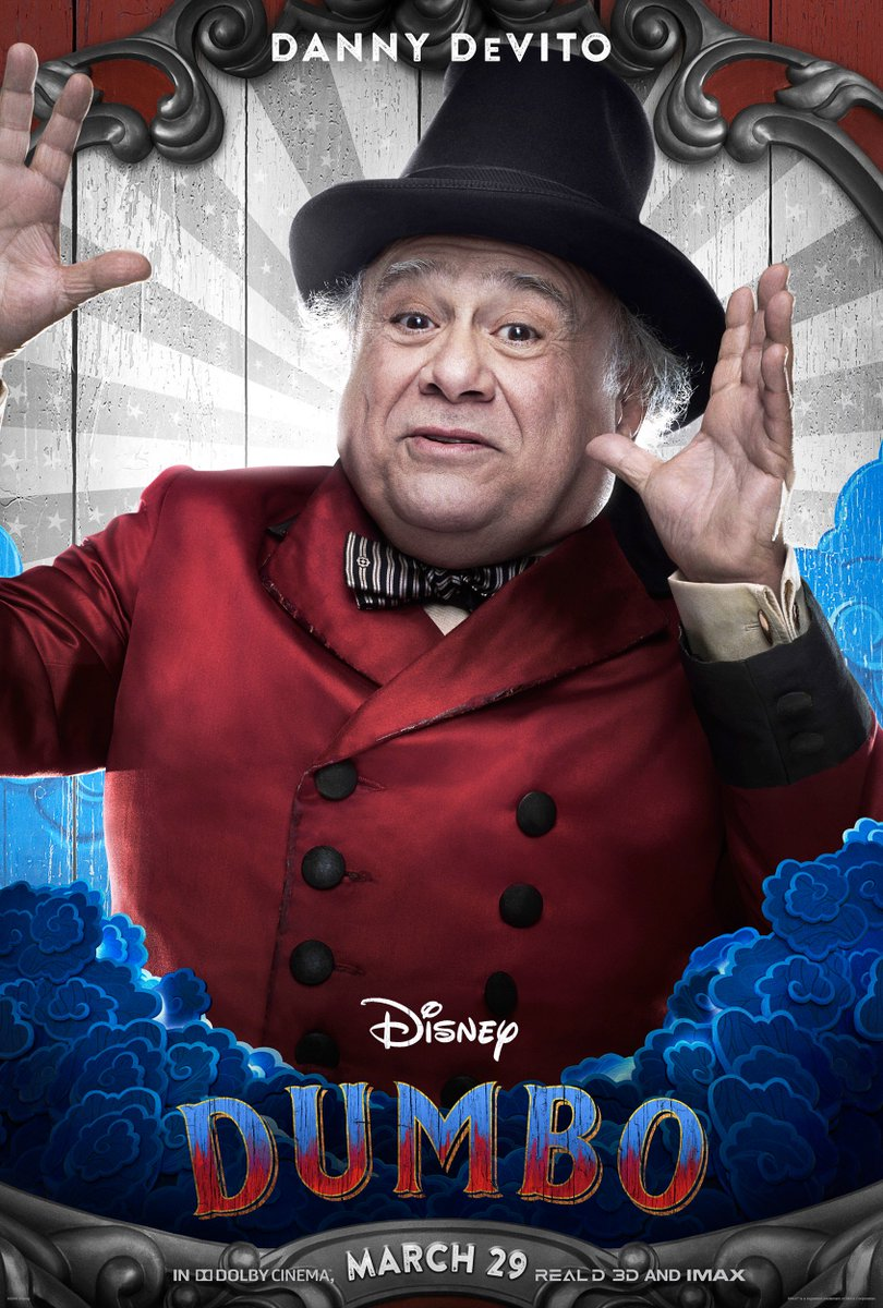 RT @Dumbo: See @DannyDevito as Max Medici and @MichaelKeaton as V.A. Vandevere in Disney's #Dumbo. https://t.co/D9CQ15xis2