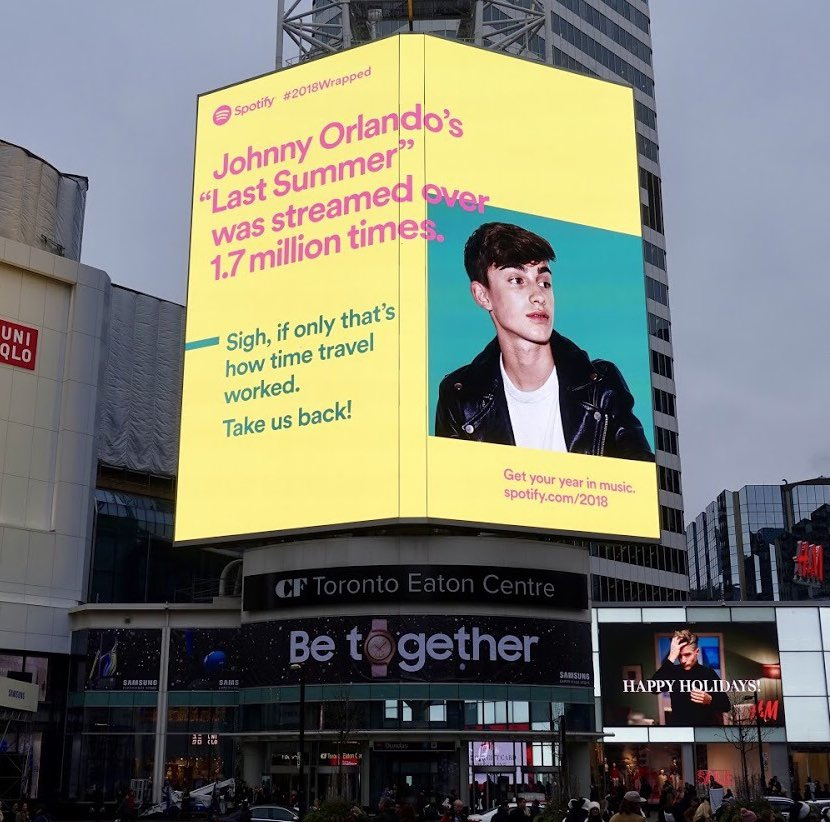 RT @johnnyorlando: this is crazy. thank you @SpotifyCanada for all the love!! #2018Wrapped⁠ ⁠ 🖤🖤 https://t.co/031RWz2Lrq