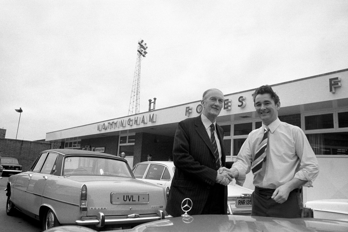 RT @NFFC: 👌   #OnThisDay in 1975, Brian Clough arrived at The City Ground. #NFFC https://t.co/gegfMfQJ9C