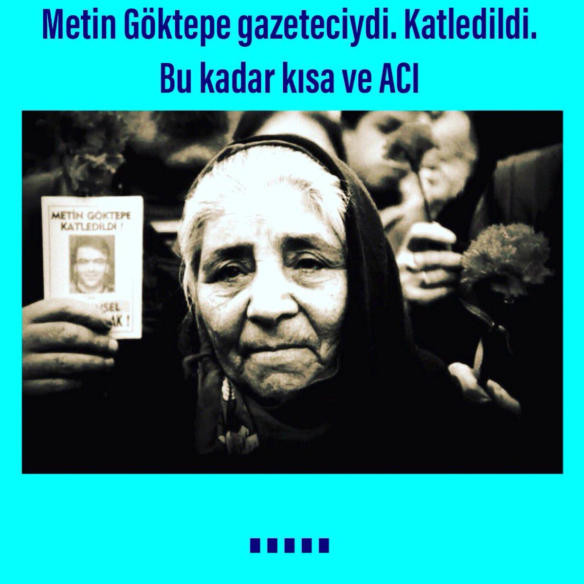 Metin Göktepe gazeteciydi. Katledildi. Bu kadar kısa ve ACI https://t.co/cYbkBZZcmy