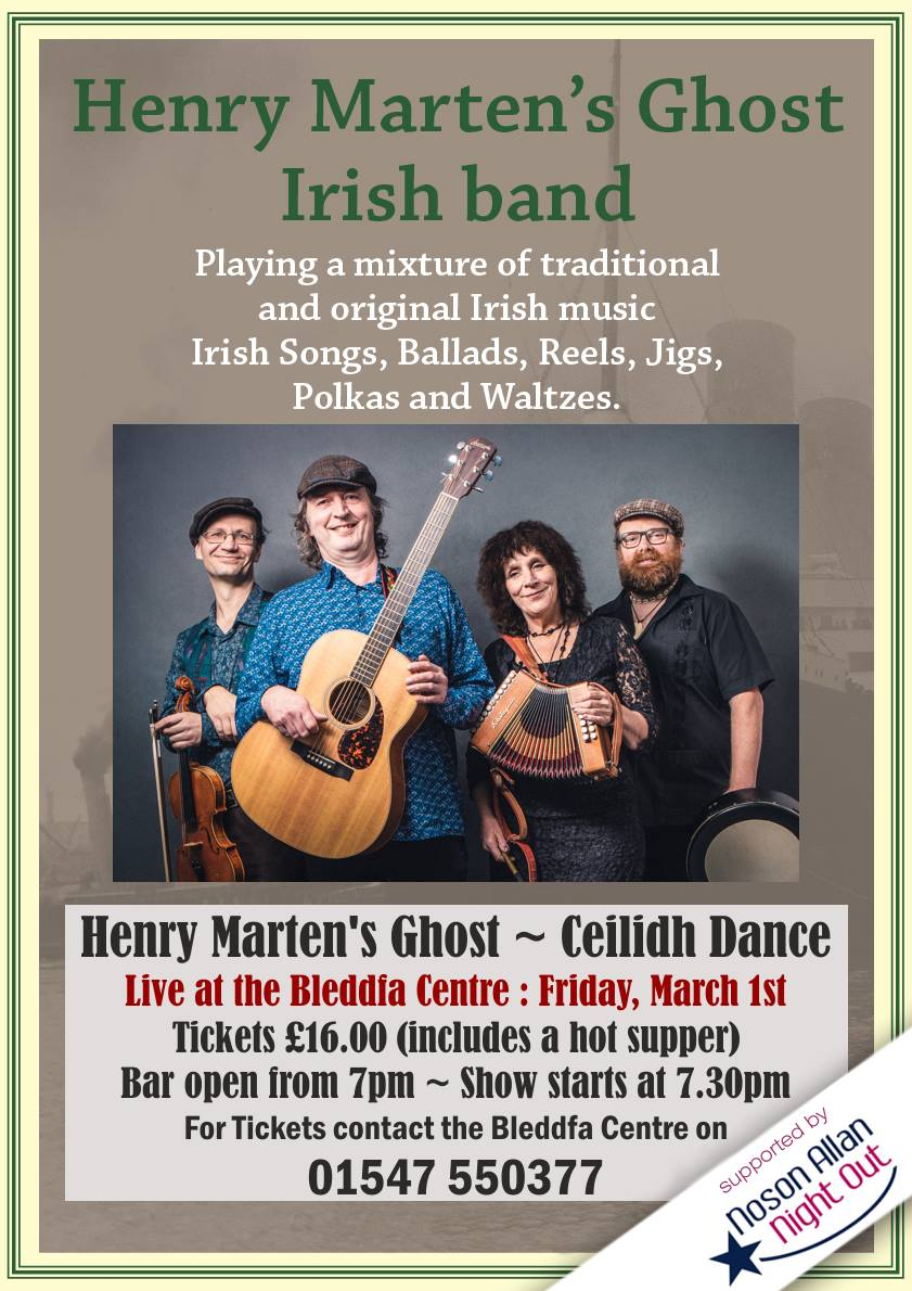 Image for This is going to be a great night of music and dance to celebrate St David's Day! Book your tickets by emailing hello@bleddfacentre.org or call 01547 550 377 #LiveMusic #folk #ceilidh #dancing #Powys #MidWales #NightOut https://t.co/MYmdfm3mE8