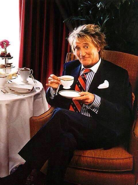 IF you like our tea and you think it\s yummy, come on baby, let us know! Happy birthday to Rod Stewart!
