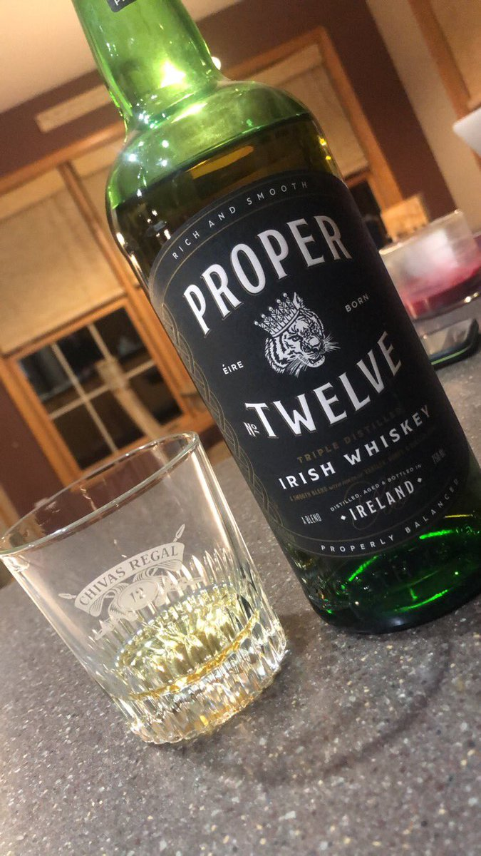 RT @WolfieCOD: @TheNotoriousMMA @ProperWhiskey smoothest whiskey, rolls right down the tongue https://t.co/gkuWd8jVw9