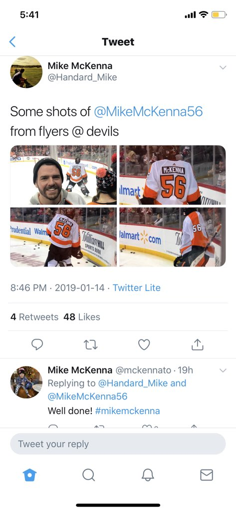 RT @CRoatis: Mike McKenna giving kudos to Mike McKenna for his photo of Mike McKenna.  This website has its moments. https://t.co/UtHUwF0LLu