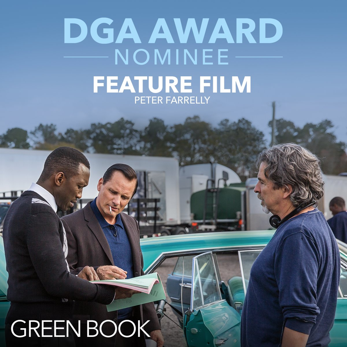 RT @greenbookmovie: Congratulations to Peter Farrelly on his #DGAAwards nomination. #GreenBookMovie https://t.co/I2Zj9EuvGi