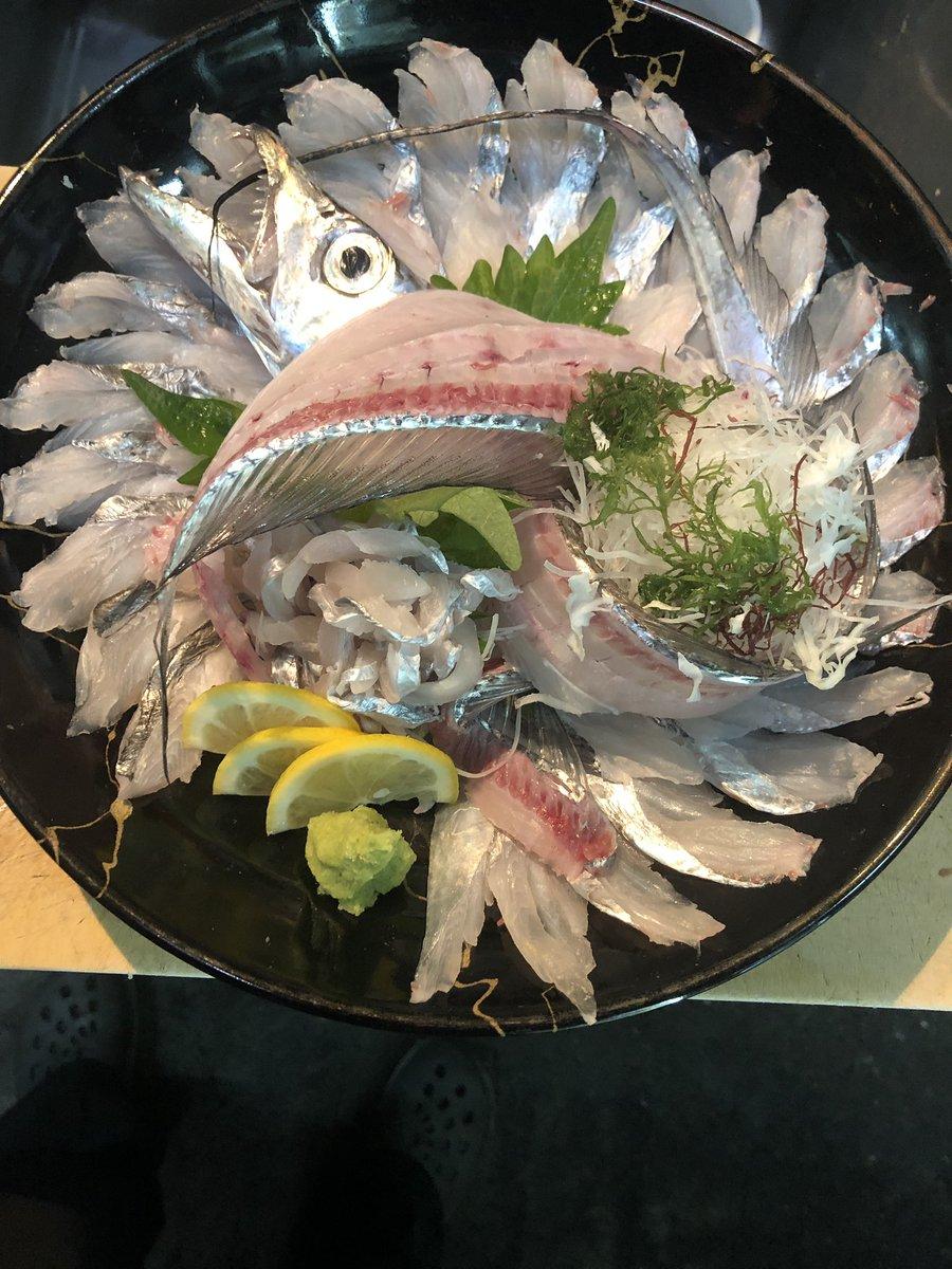 本日は店休日です(T_T) お客様の釣果 太刀魚刺し、サゴシのアクアパッツァふう ガラカブ、アコウ、イサキ刺し 明日から絶賛営業中です #熊本県八代市 #太刀魚 #アコウ #アクアパッツァ #Chef #イサキ #サゴシ https://t.co/PIOjhOH88O