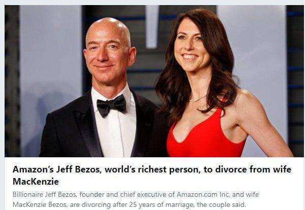 RT @StartaleTV: Jeff Bezos' wife is a better investor than all of us.  $AMZN https://t.co/kgKQK8NAqq