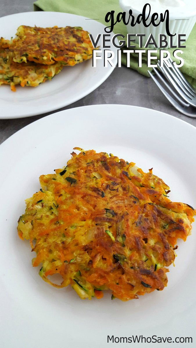 RT @MomsWhoSave: Try This Tasty Garden Vegetable Fritters Recipe  >>    #recipes #vegetarian