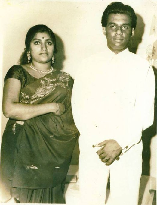 HAPPY BIRTHDAY, K.J.YESUDAS. IN THIS PHOTO, HE IS WITH WIFE PRABHA.
