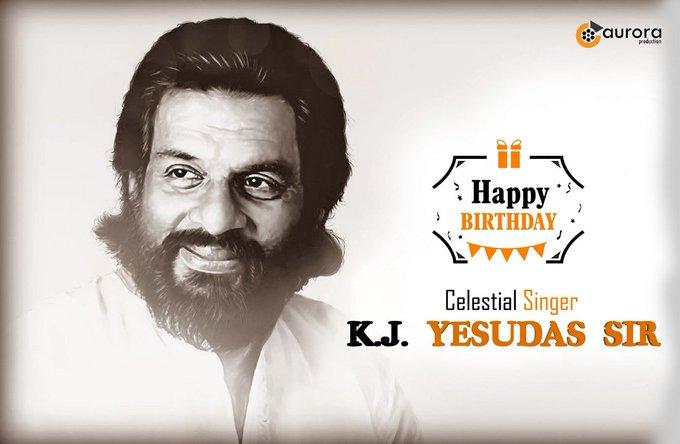 Happy birthday Indian musician and padam vibhushan Mr.K.J.Yesudas