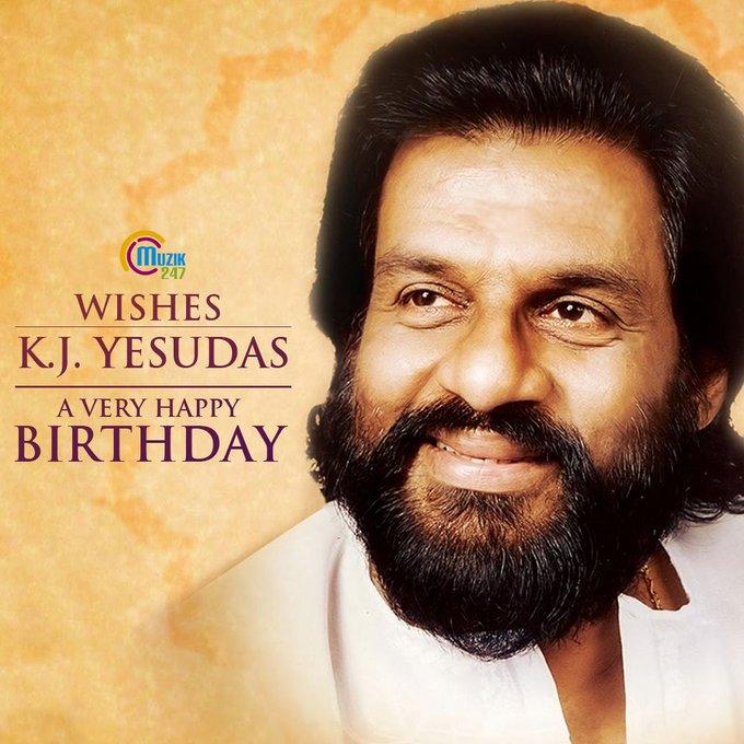 Muzik247 wishes the legendary Playback Singer K.J Yesudas a very happy Birthday !!