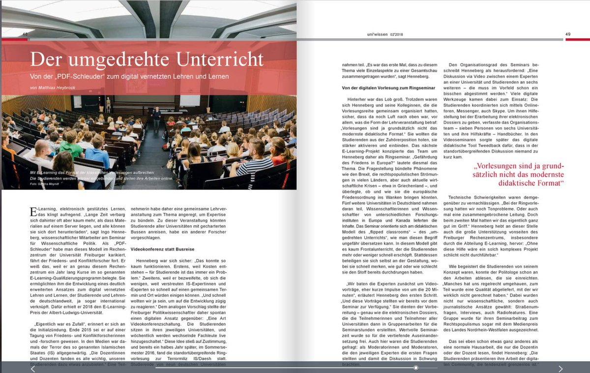test Twitter Media - #Digitalisierung der #Hochschullehre: @Ingo_Henneberg und das Format des standortübergreifenden #Ringseminars im Magazin #UniWissen @UniFreiburg. https://t.co/p1i7e7T6LP. Vertieftend @PVS_journal: https://t.co/R3O2HJ44Lb. #PoWiLehre #elearning #eteaching #connectingcreativeminds https://t.co/XRhxP0O2vC
