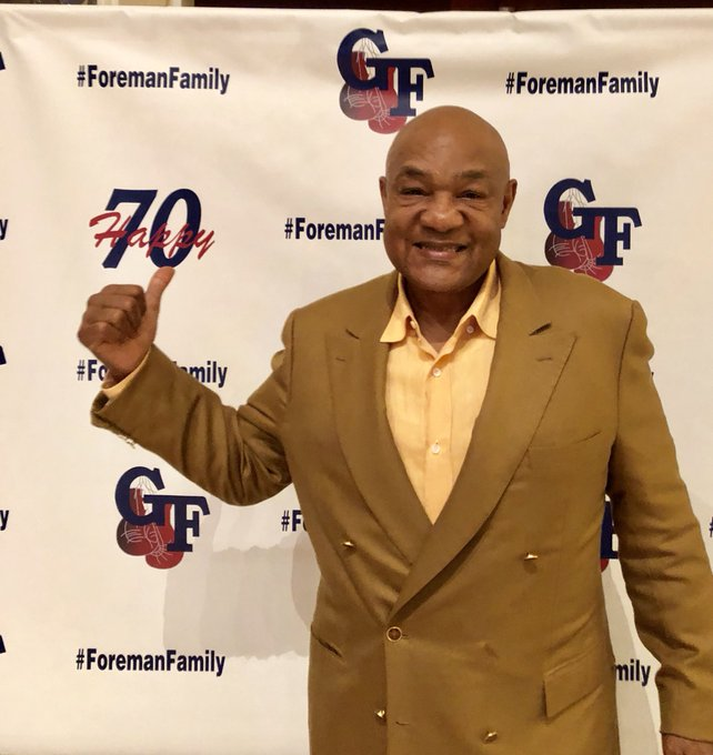 Happy 70th birthday to the one and only George Foreman.