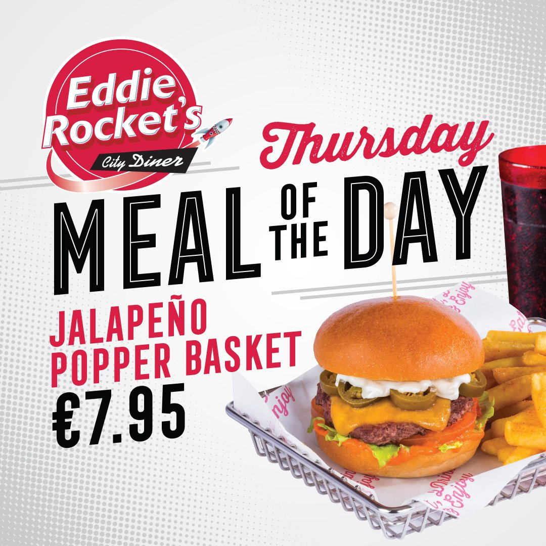 Spice up your Thursday with today's meal of the day, the Jalapeno Popper Basket, for just €7.95 🔥🌶️🍔 https://t.co/CsV8JOxESF