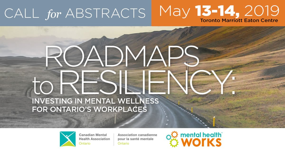 test Twitter Media - Get those submissions ready this weekend! Monday, Jan 14 is the last day to submit your #abstract for our 2019 healthy workplaces conference, Roadmaps to Resiliency. #MentalHealthWorks https://t.co/eAKL5LtHmA https://t.co/NWB575Nbd7