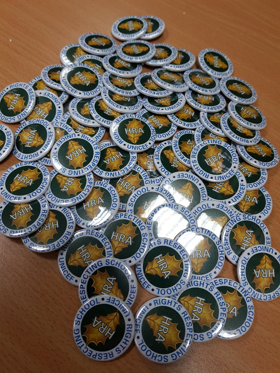 test Twitter Media - Holly Rights Ambassador (HRA) badges ready to go out to our Year 6 Ambassadors. #rightsrespectingschool @UNICEF_uk https://t.co/0WeP1Dpl56
