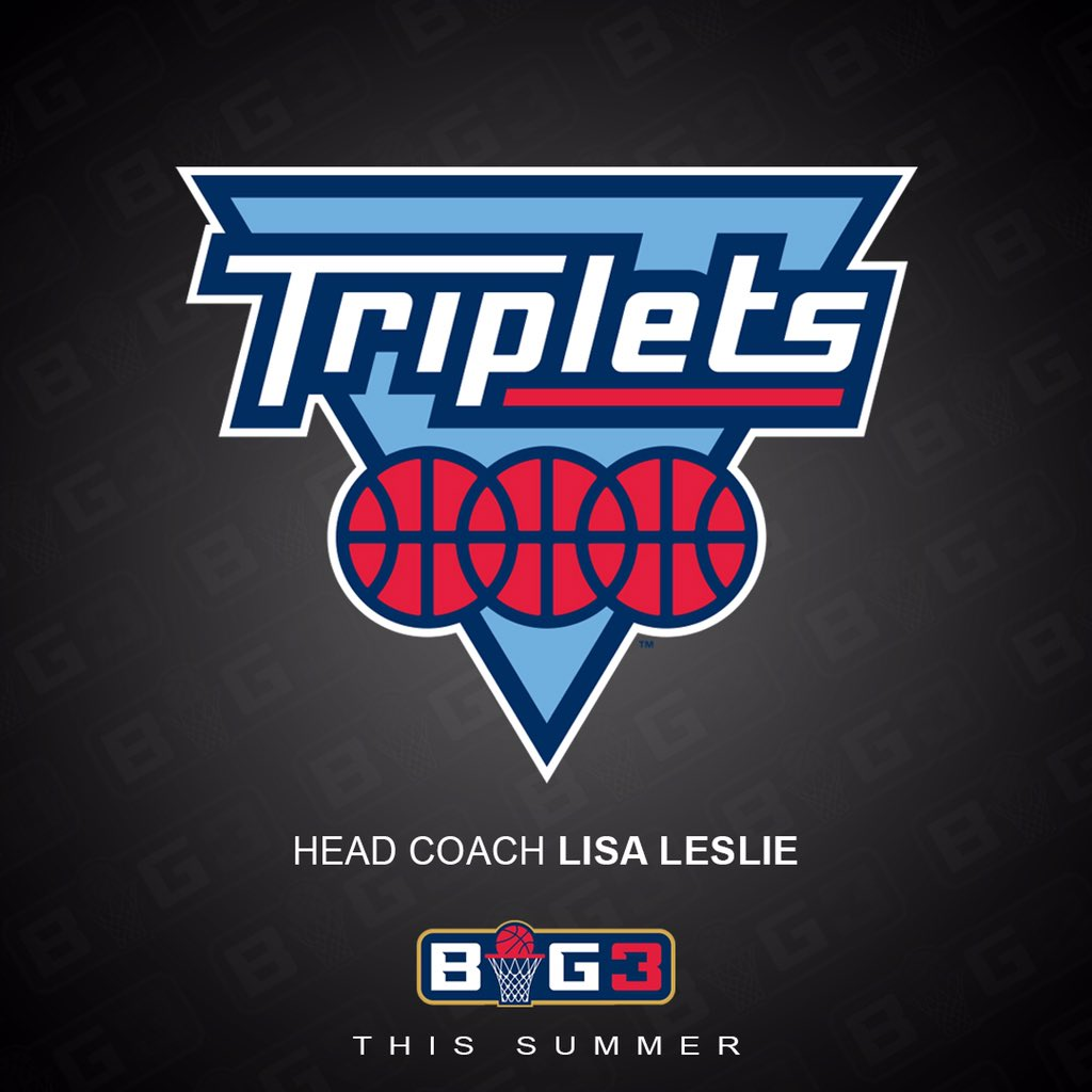 RT @thebig3: Here's a closer look at the new Triplets logo ???????????? #BIG3Season3 https://t.co/KxhjXP46H0