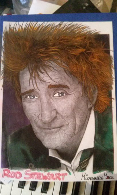Very, very happy birthday to the might Rod Stewart!  This is my kind artwork for him!