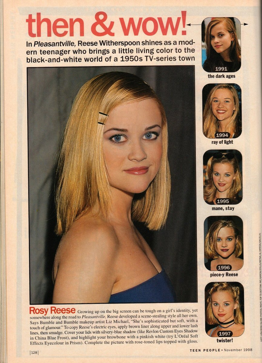 Ahh the 90's….Thanks #TeenPeople for Rosy Reese… Piece-y Reese.. and Twister Reese? Yup, that happened. ???????????? #TBT https://t.co/gJAPPRc3uO