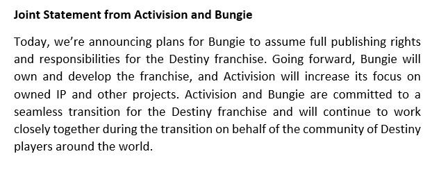 Thank you Guardians. It's been an honor and a privilege to help bring the world of Destiny to life for you. https://t.co/EB1y19OTD8