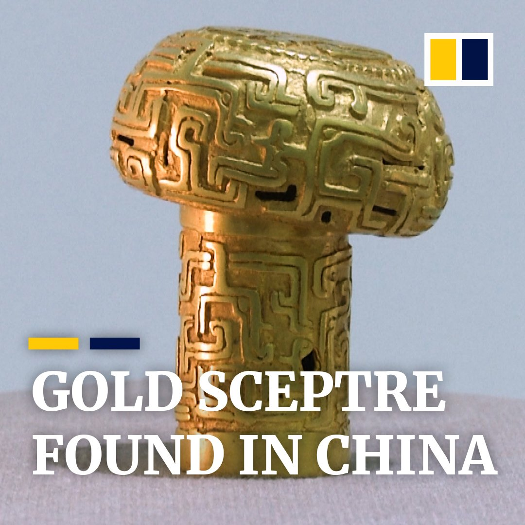 Archaeologists in China have unearthed a 2,500-year-old golden sceptre. https://t.co/dYnUlX4YW6