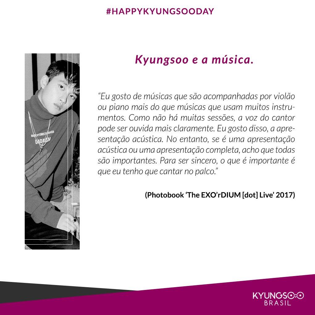 RT @KyungsooBR: 2) A relação de Kyungsoo com a Música  🎤🎶 #PrinceKyungsooDay https://t.co/QhvnApVvmM