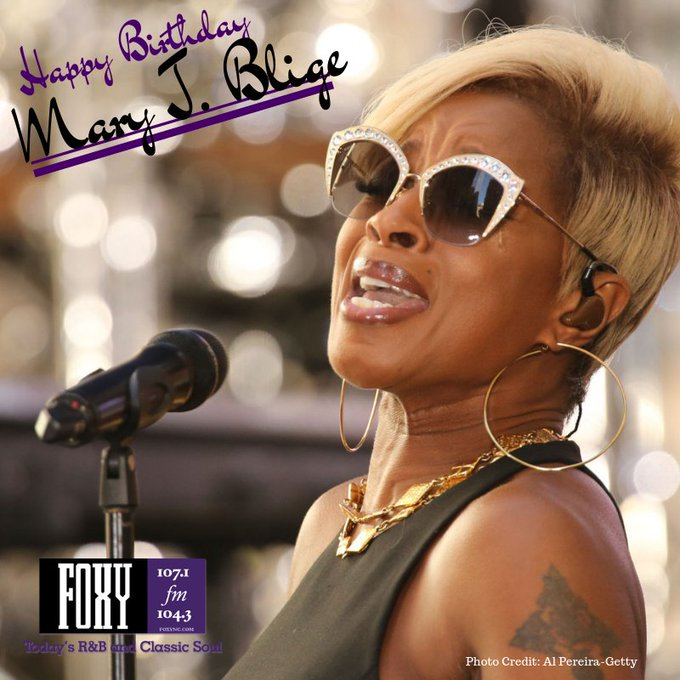 Happy Birthday Mary J. Blige      (Photo Credit : Al Pereira-Getty )