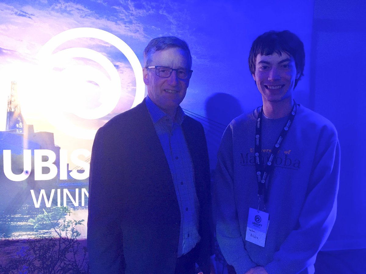 test Twitter Media - Had the pleasure of meeting Will Ritchie who is a first year student at University of Manitoba and one of Ubisofts newest interns. Just the kind of local talent Manitoba has to offer! 👏🎮 @UbisoftWinnipeg #mbpoli https://t.co/Ai6Cdy77vi