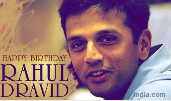 Happy birthday great wall of india rahul dravid sir