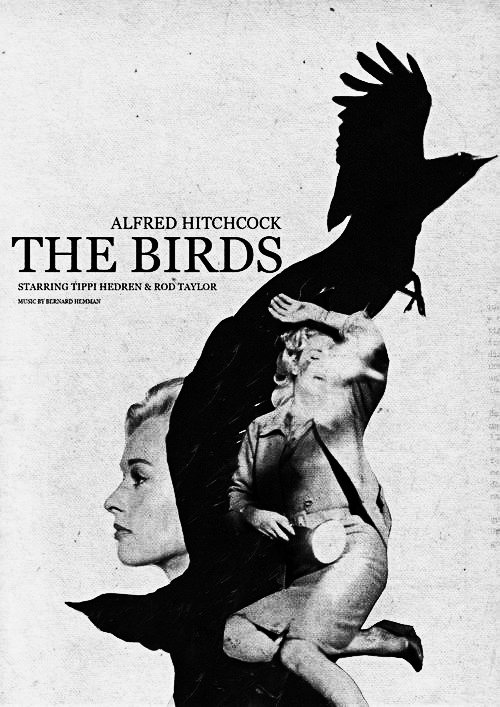 THE BIRDS (1963) #Hitchock #Poster Series by @jolienbrands_ #HorrorArt https://t.co/yj5rLdTWdh