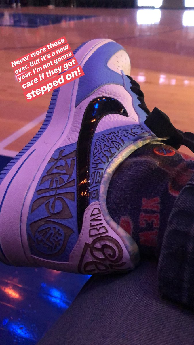 Never wore these ever. These are the prototype Fukijamas. @nyknicks game are appropriate. https://t.co/MwaRhzriiH