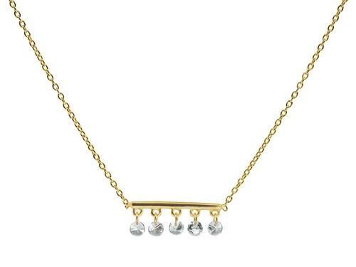Thin Briolette CZ Golden Bar Necklace USD 45.01 https://t.co/IuDVFqU5HM https://t.co/AYHrMCtA61